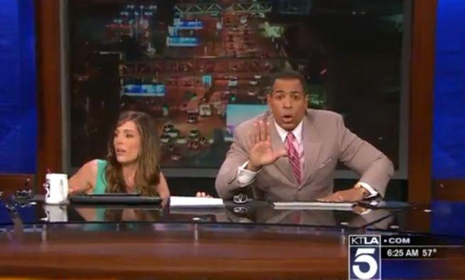 News Anchor Has Hilarious Reaction To LA Earthquake on Live TV