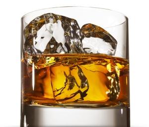 bourbon in glass