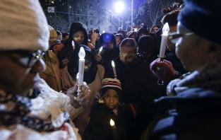 Memorial for New York police officers shot dead