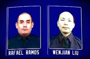 Slain NYPD Officers  remembered at rangers1 source NYPD News CROPPED