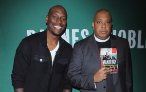 "Rev Run And Tyrese Gibson Sign Copies Of Their Book ""Manology: Secrets of a Man's Mind Revealed"""