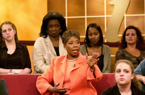 The first Iyanla Vanzant talk show is taped at the CBS TV St