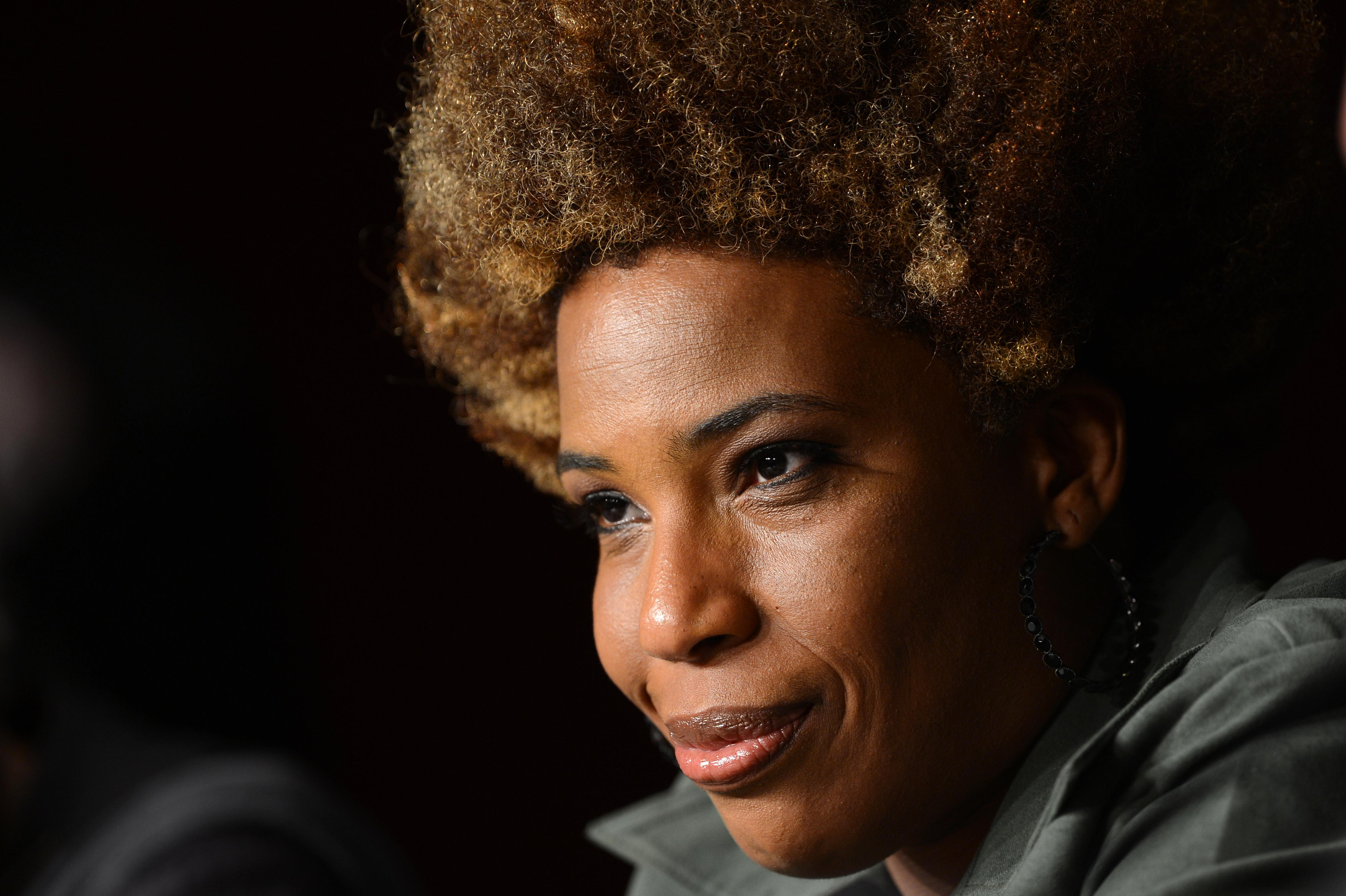 US actress Macy Gray attends the press c