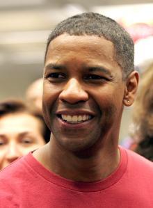 Denzel Washington Holds Charity Day