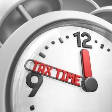 tax time alarm clock