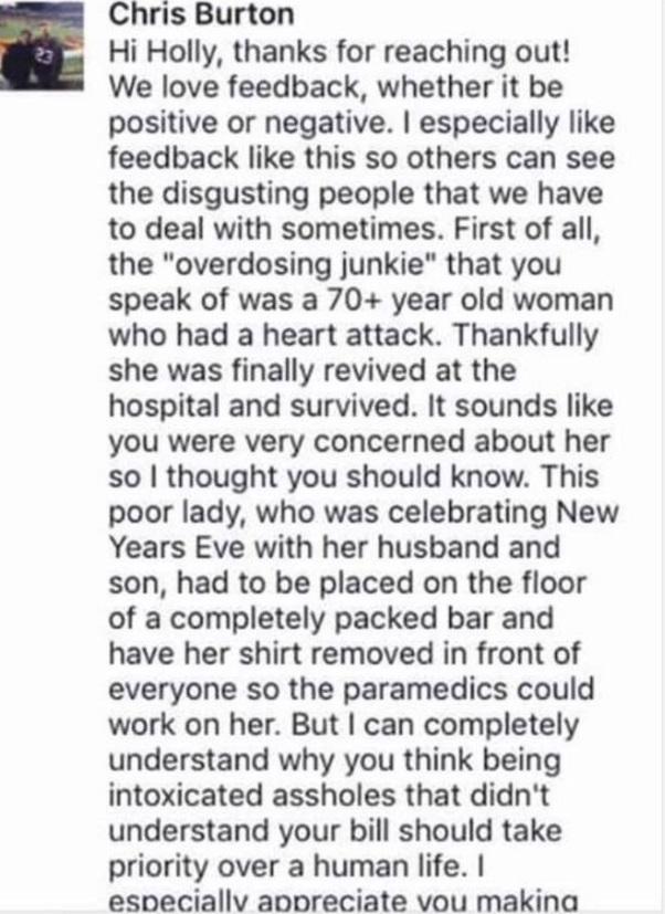 Kilroys Facebook Response