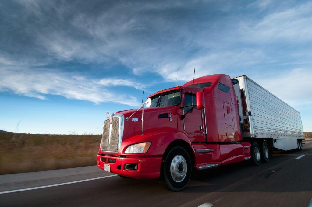 Truck on Highway.