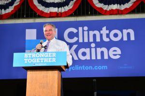 Tim Kaine Campaigns In Miami