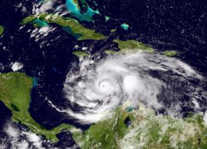Hurricane Matthew Churns in Caribbean