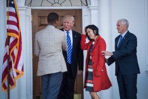 Republican presidential elect Donald Trump at Trump National Golf Club Bedminster in Bedminster Township, N.J.