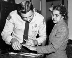 Rosa Parks Gets Fingerprinted