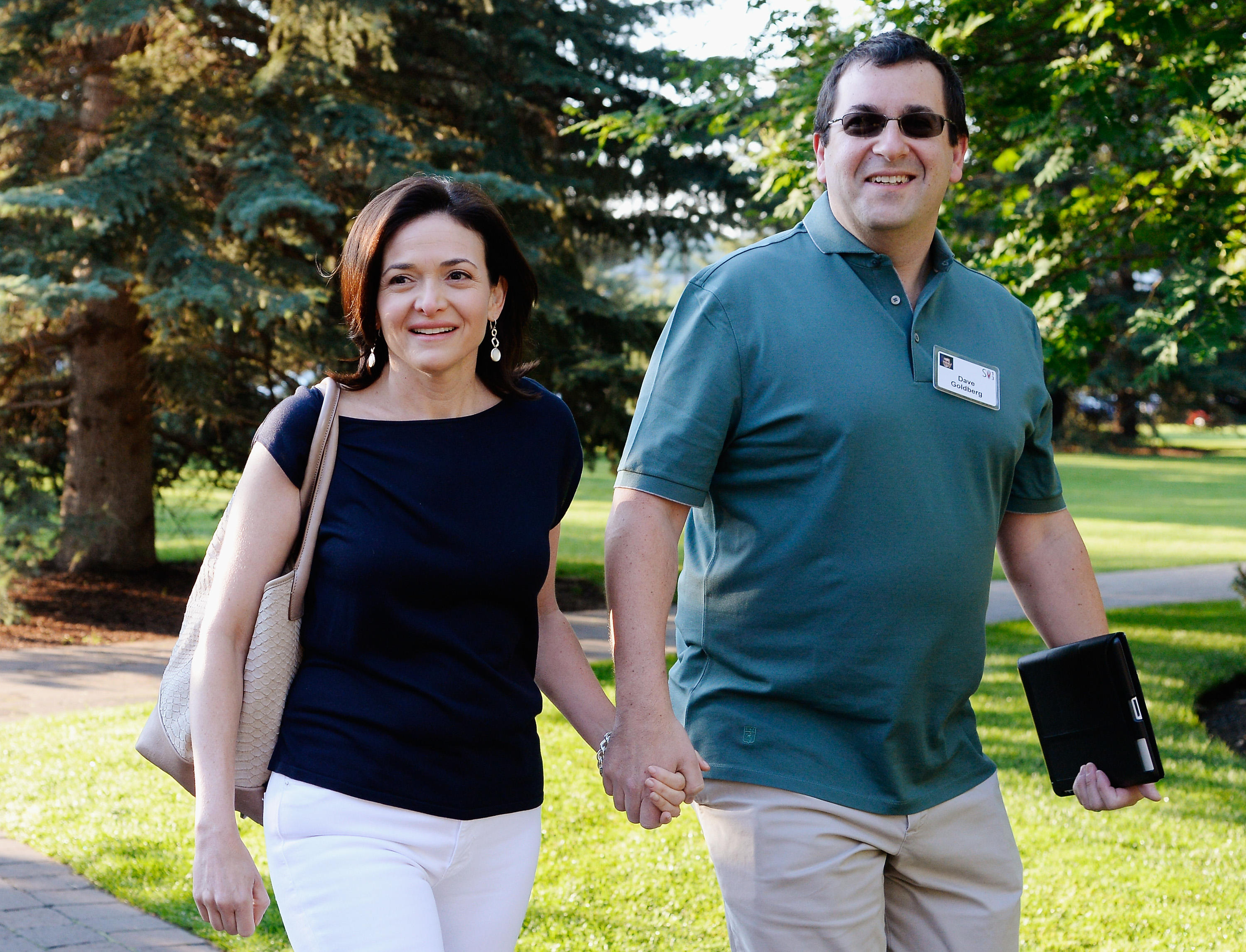 Sheryl Sandberg & husband Dave Goldberg arrive for an annual conference