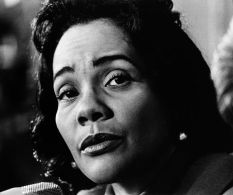 ''CORETTA SCOTT KING (1927-2006). American Civil Rights leader; wife of Martin Luther King, Jr. Photographed in 1971.''