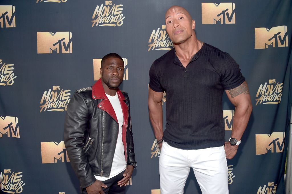 Dwayne Johnson Kevin Hart Knows He S A Lucky Man After Car