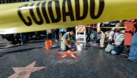 Donald Trump'Hollywood Walk Of Fame Star Vandalized