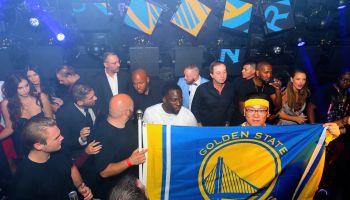 Golden State Warriors Celebrate NBA Championship At JEWEL Nightclub Inside ARIA Resort & Casino