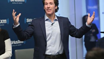 Joel And Victoria Osteen With Fr. Ed Leahy At SiriusXM