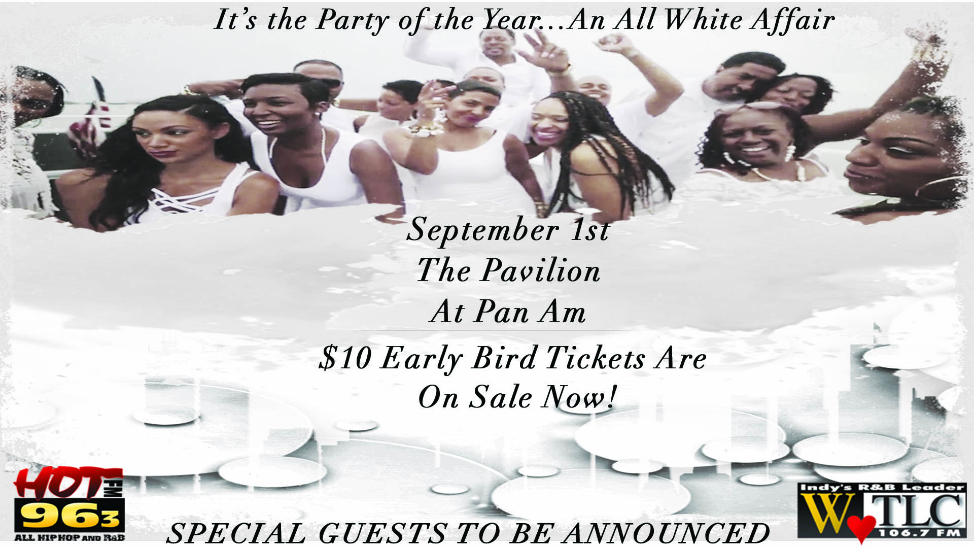 White Party Graphic Flyer
