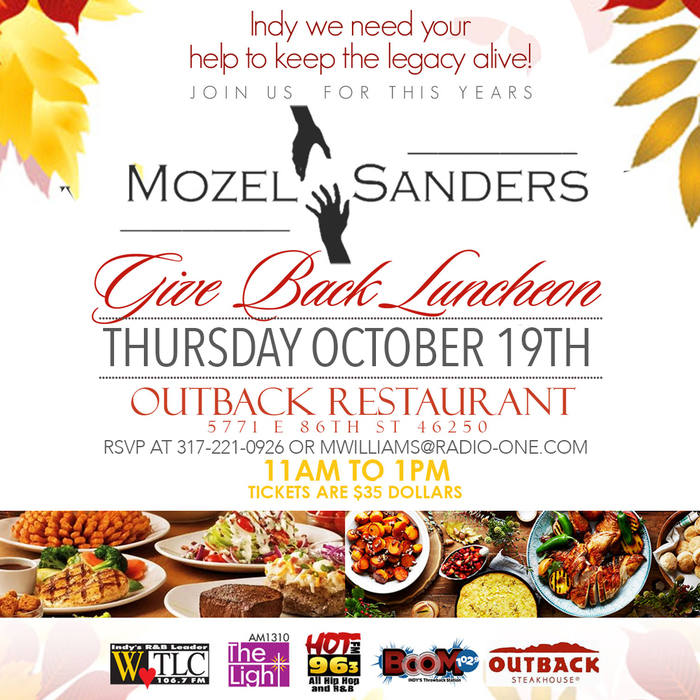 Mozel Sanders Foundation's Give-Back Luncheon 2017