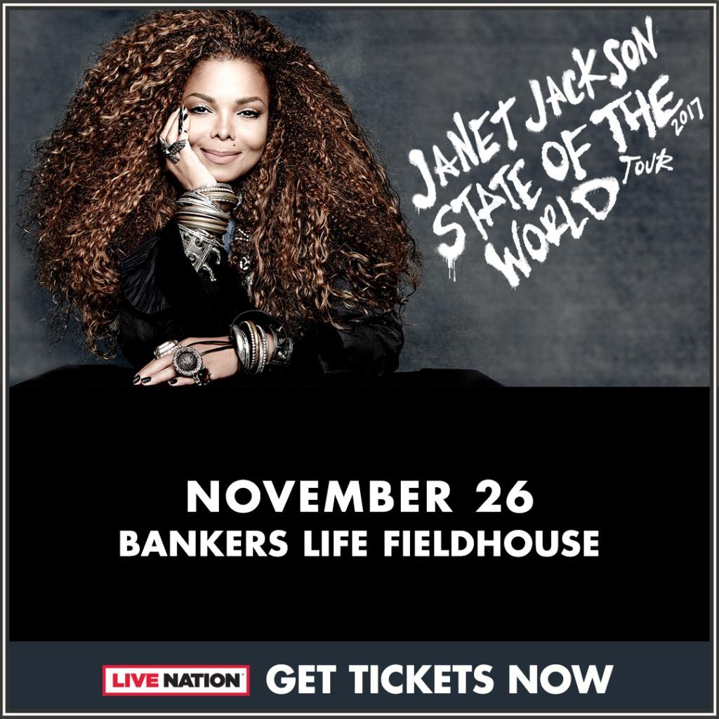 Janet Jackson Indy Concert Flyer