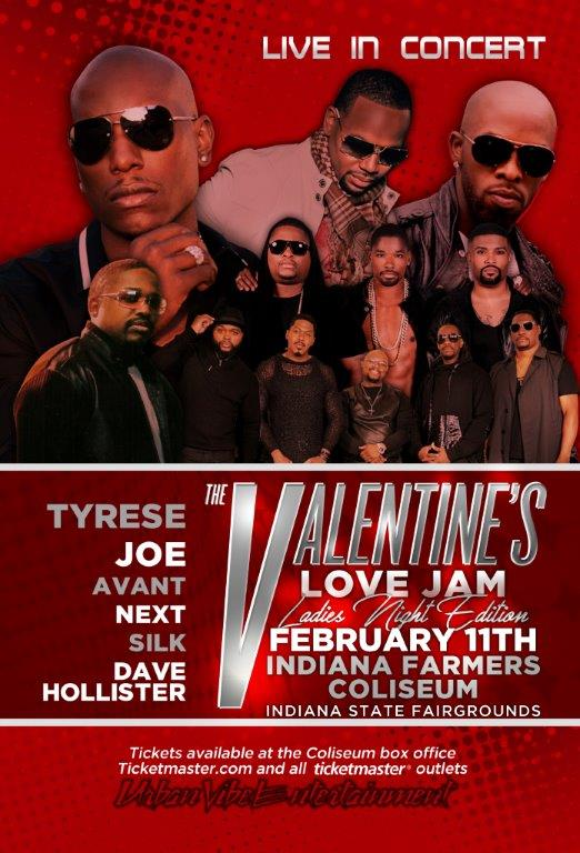 The Valentine's Love Jam Flyer