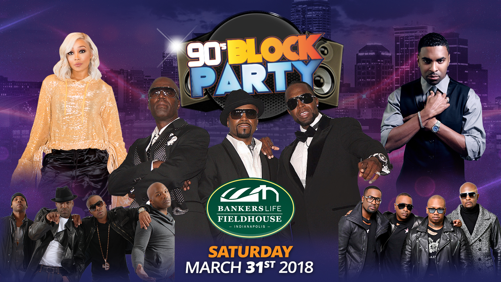 90's Block Party Flyer