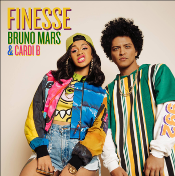 "Bruno Mars & Cardi B ""Finesse"" cover art"
