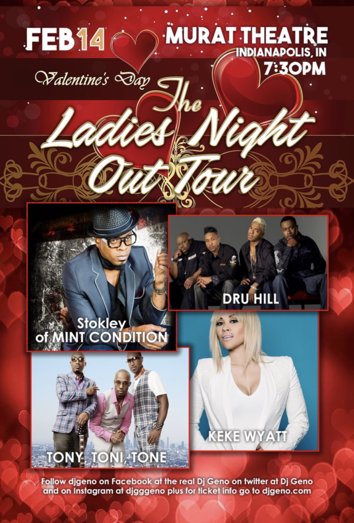 The Ladies Night Out Tour Flyer
