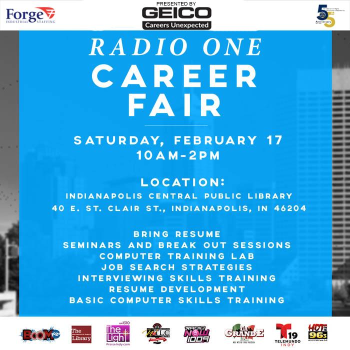 2018 Radio One Career Fair Flyer (Updated)