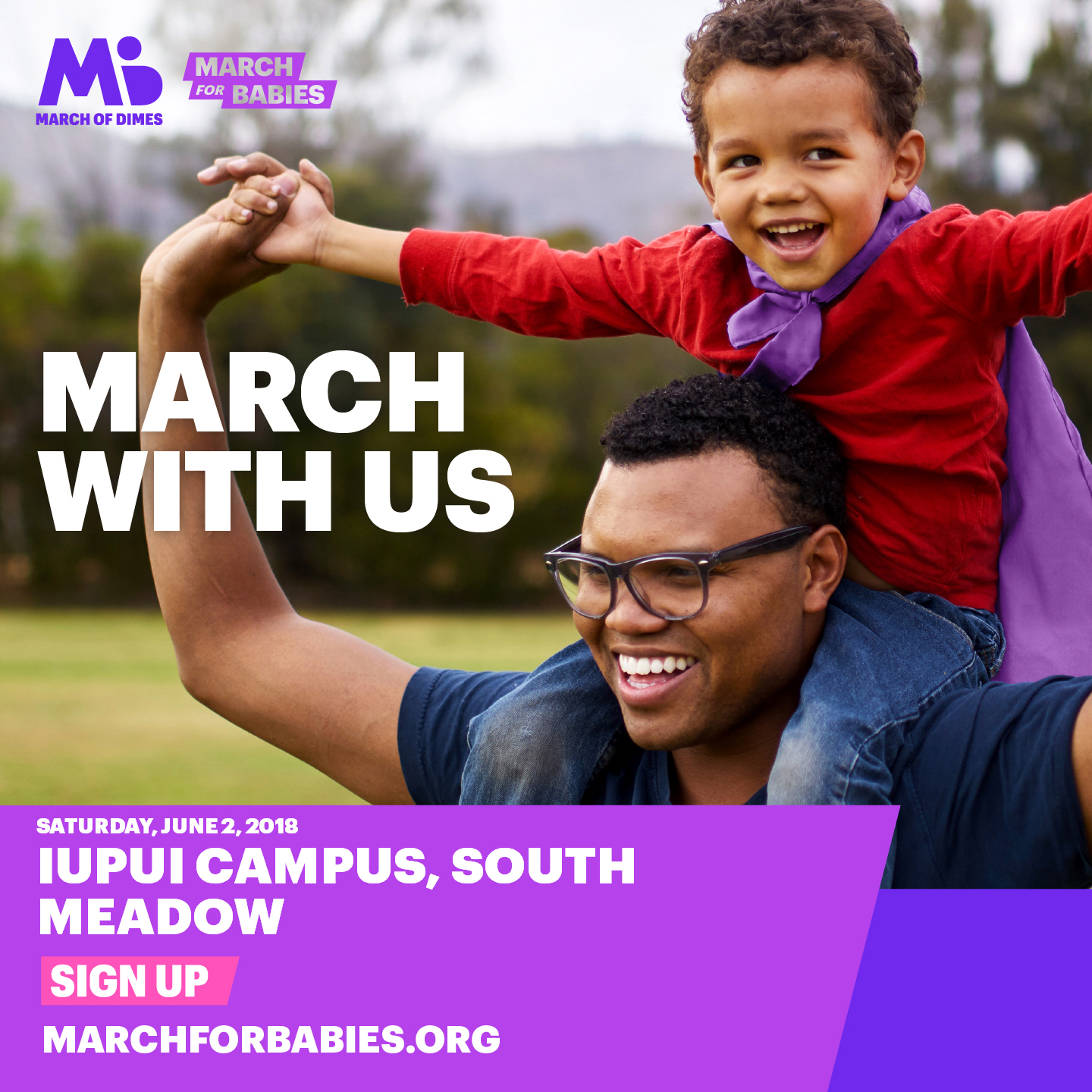 March For Babies Flyer