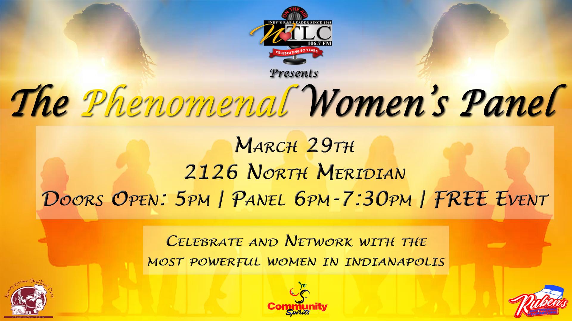Phenomenal Women's Panel 2018 Flyer
