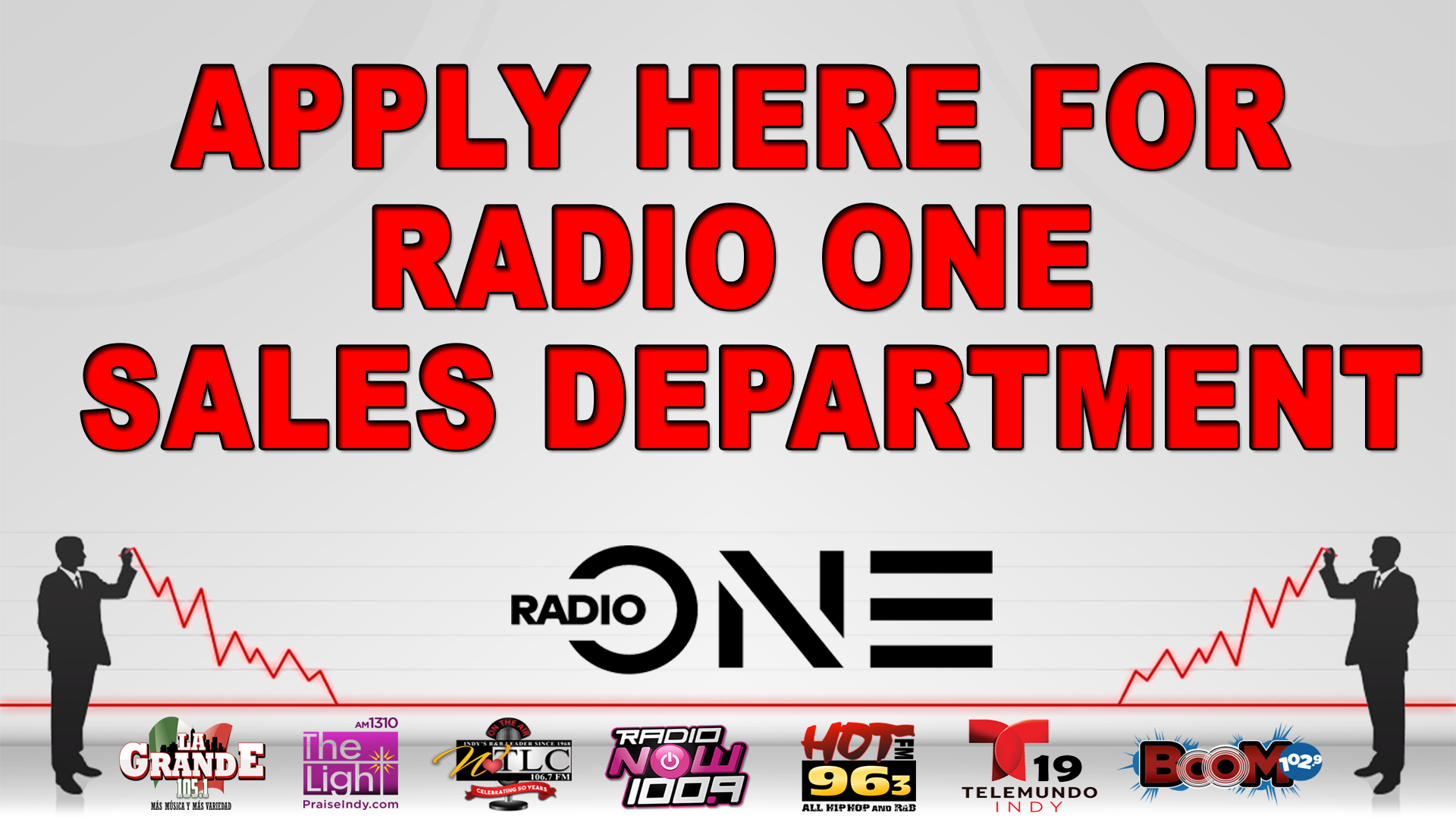 Apply Here For Radio One Sales Department Graphic