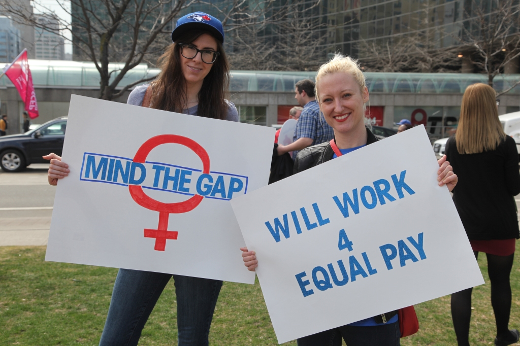 Women Rally On 'Equal Pay Day' to Demand Equal Pay For Women