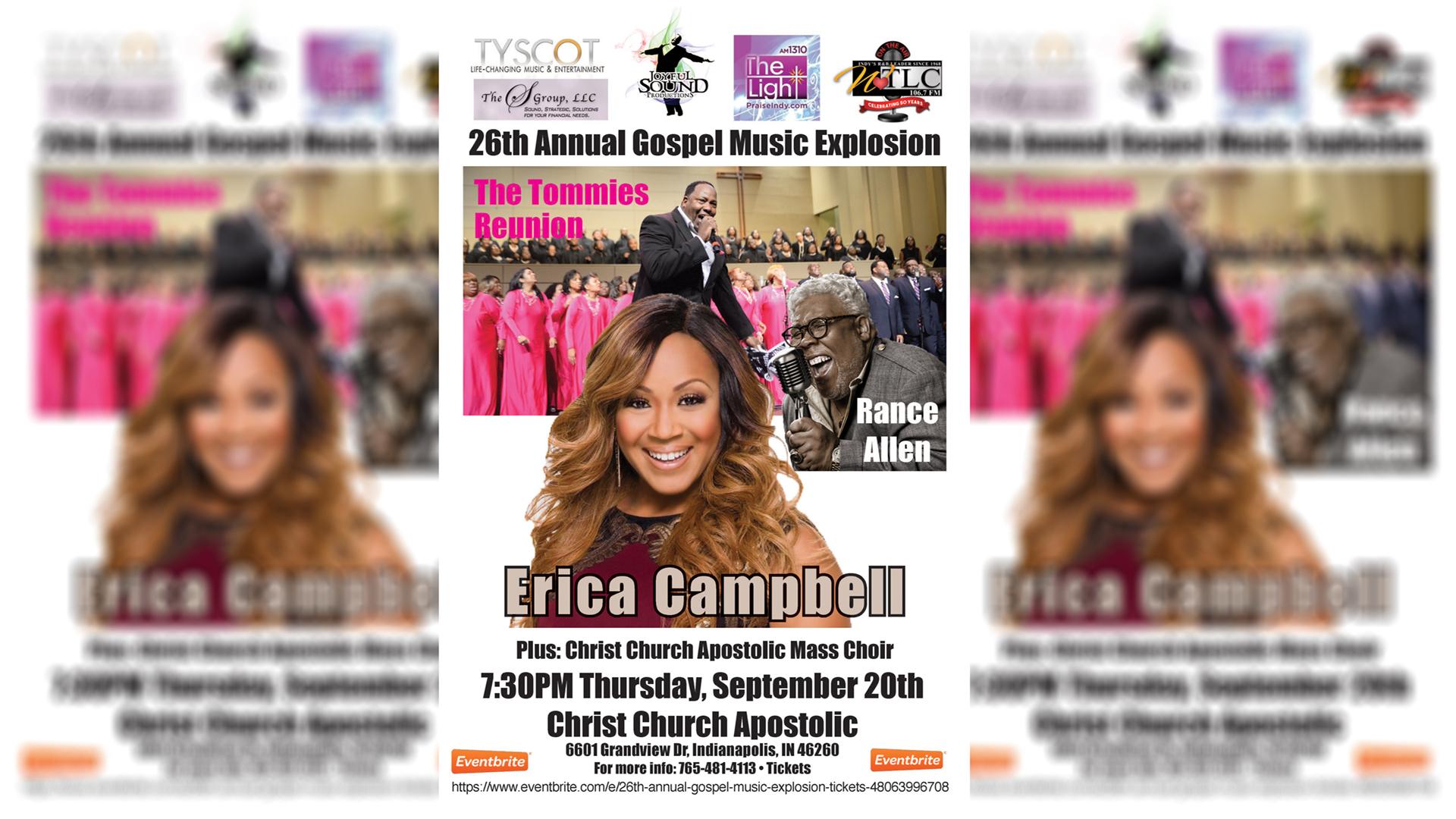 26th Annual Gospel Music Explosion Flyer