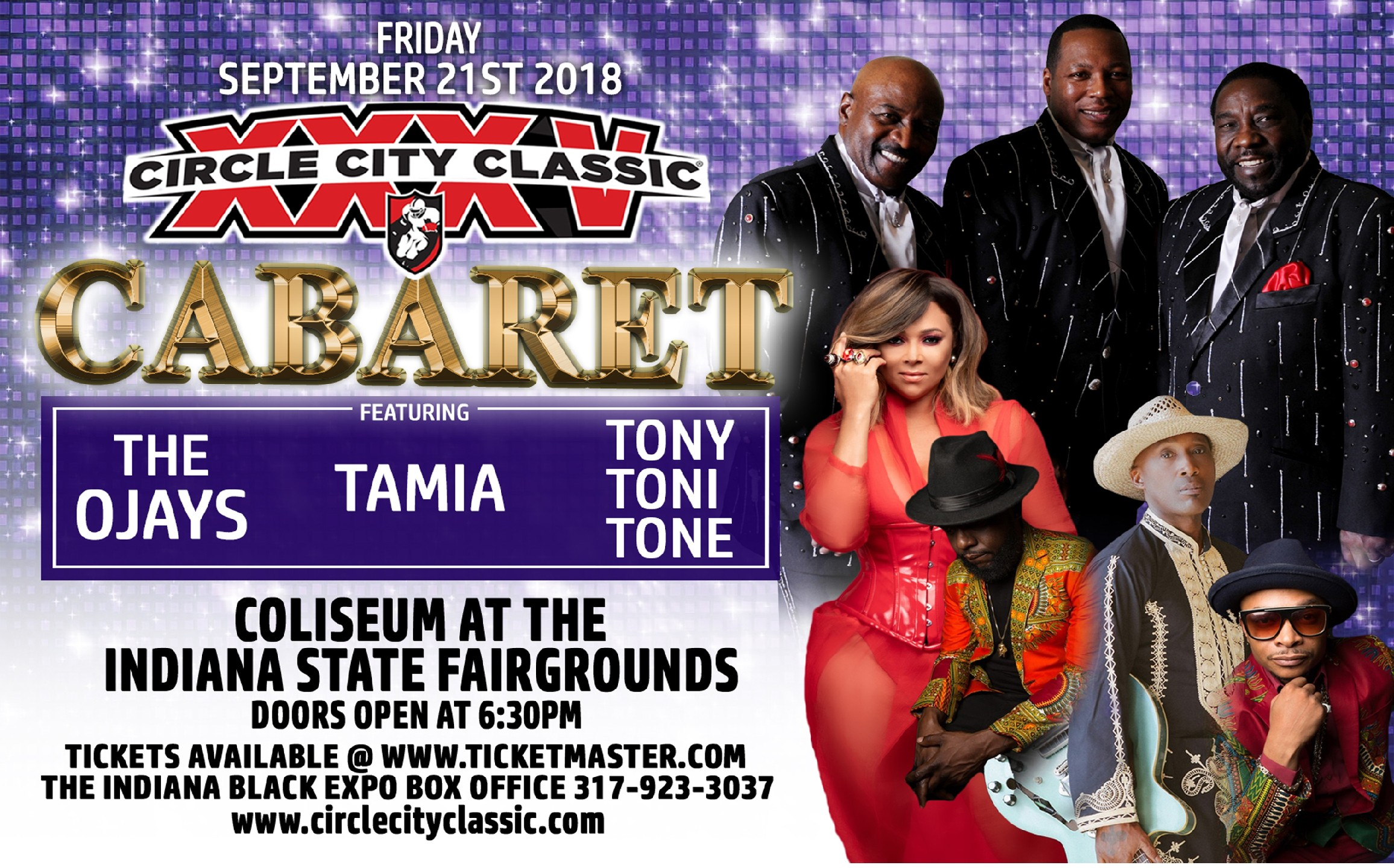 2018 Circle City Classic Cabaret Flyer