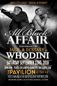 The All Black Affair Flyer