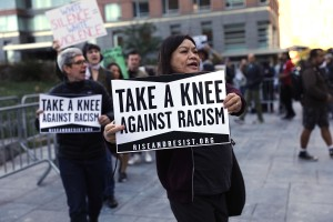 Activists Protest Outside NFL Fall League Meeting In New York