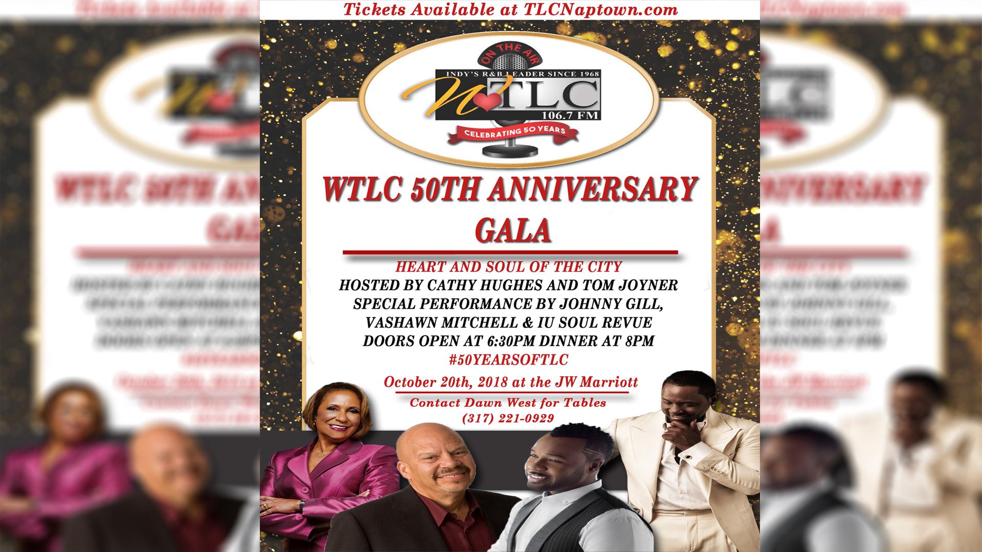 WTLC's 50th Anniversary Gala Flyer