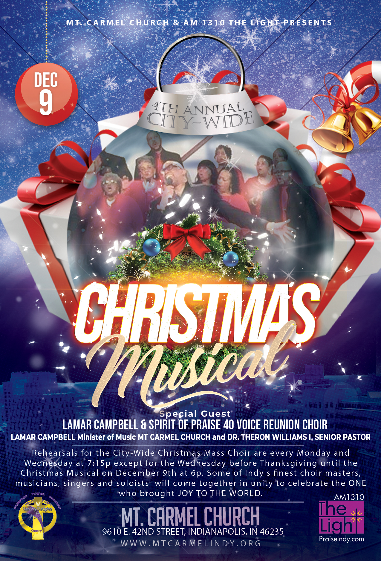 4th Annual City Wide Christmas Musical Flyer