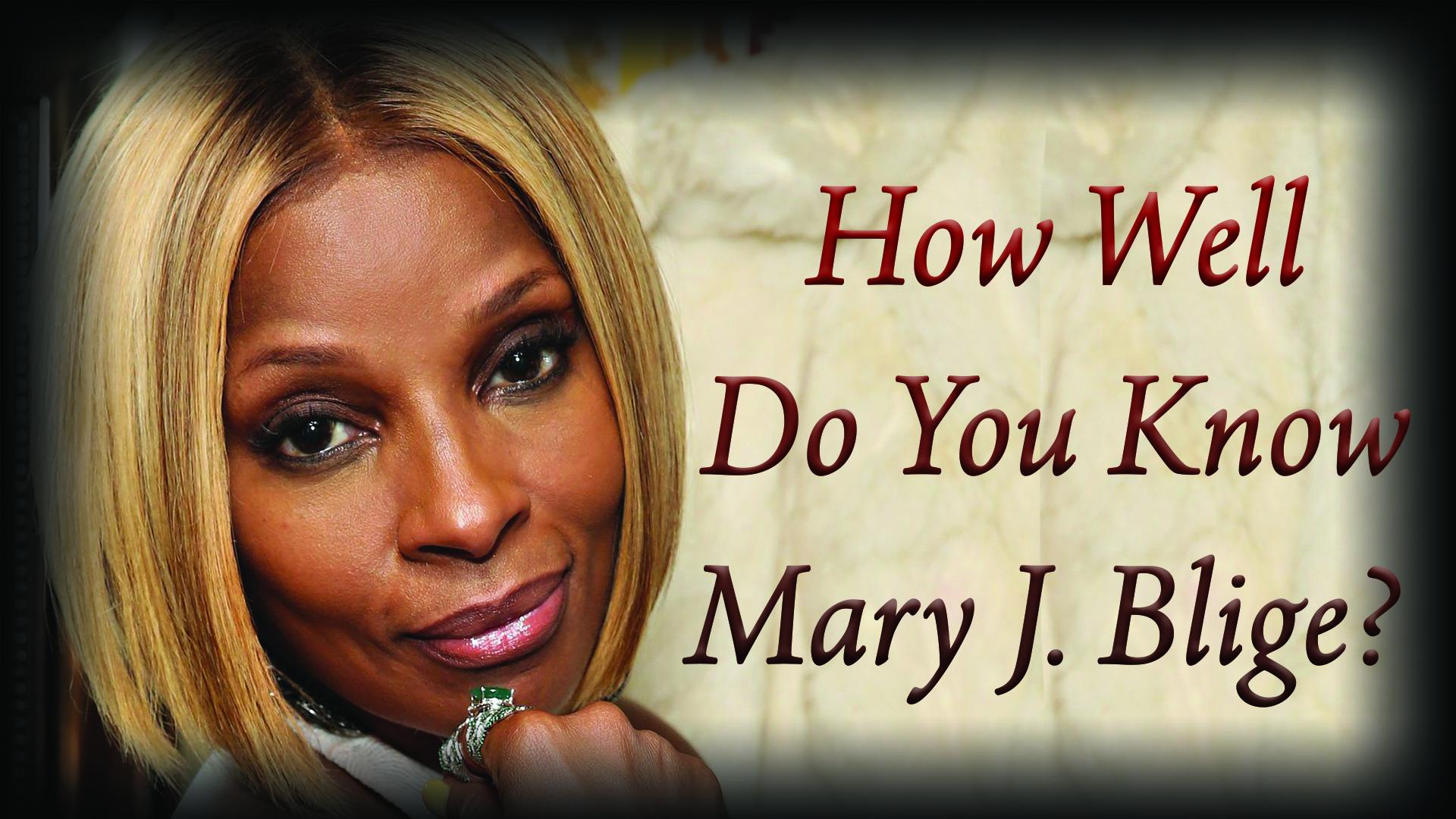 Mary J Blige Quiz Graphic
