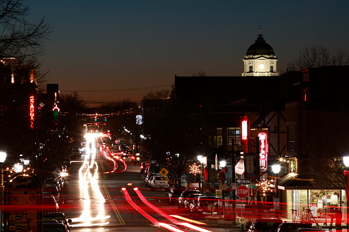 Kirkwood Avenue in Bloomington, Indiana