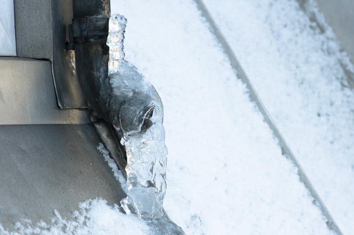 Frozen drainpipes