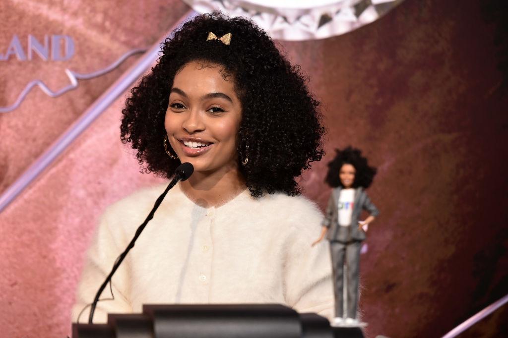 Actress Yara Shahidi Celebrates Barbie's 60th Anniversary & International Women's Day