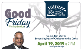 Annual Community Wide Good Friday Live Broadcast Flyer