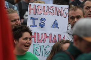Protest Against The Housing Crisis In Dublin