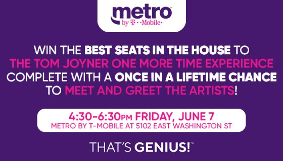 WIN a Chance to get the Best Seats in the House at the Tom