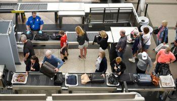 TSA security lines at Denver International Airport