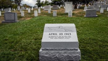 Dedication of a memorial at Arlington Memorial cemetery to the officers and crew of the USS Thresher, a nuclear submarine that sank in 1963, on September 26 in Arlington, VA.