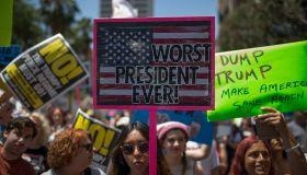 Thousands Participate In 'Impeachment March' Against Trump In LA