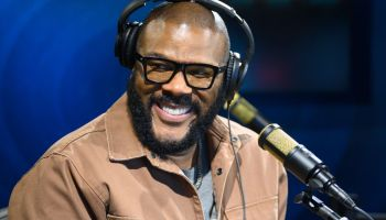 Tyler Perry Visits The SiriusXM Hollywood Studios in Los Angeles